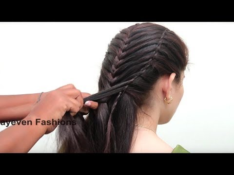 Curly hairstyles - Ladder Braid Hairstyle for Long Hair Tutorial  French braid hairstyles  Cute Party Hairstyles
