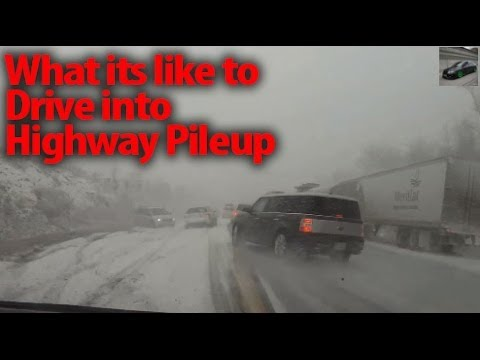 POV: Deadly Highway Snow Pile Up Accident