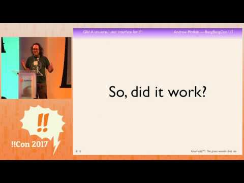 !!Con 2017: Glk! A Universal User Interface! for Interactive Fiction! by  Andrew Plotkin