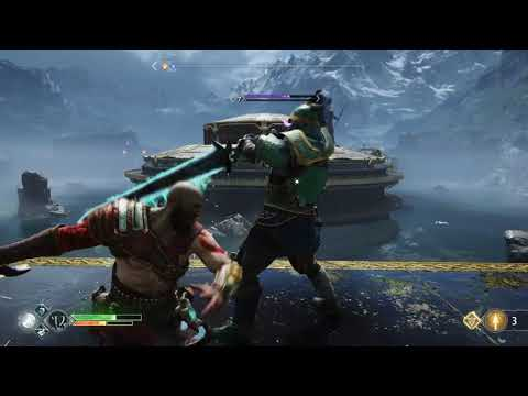 God Of War PS4, Hel-Traveller OMG... Ultra Great Sword Knight Purple Enemy Level 7