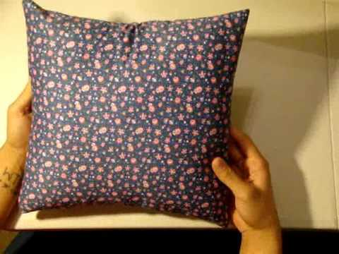 pillow - In this sewing tutorial I show you how to make a super easy envelope pillow cover. This is a great beginner project that any child or adult can make. If you ...
