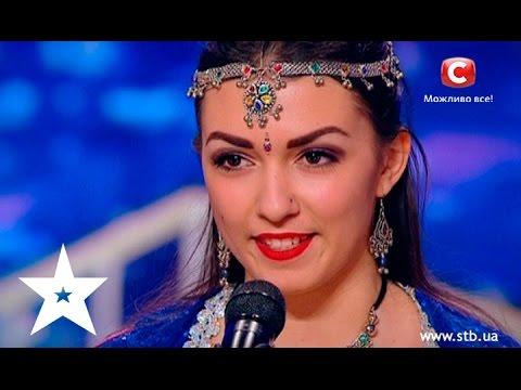 Video Charming Ukrainian girl performs Bollywood dance on Ukraine's got talent download in MP3, 3GP, MP4, WEBM, AVI, FLV January 2017