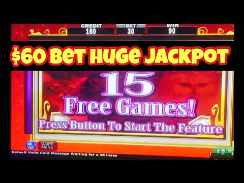 High Limit Slot Huge Jackpot Handpay Kitty Glitter Slots $60 Max Bet BIG WIN Bonus Free Spins