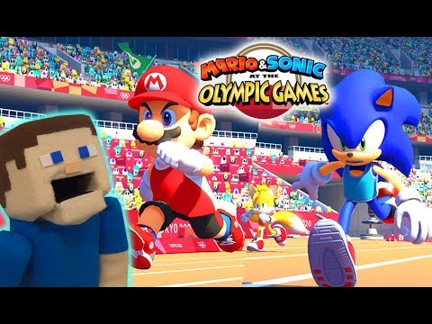 Mario vs Sonic vs Puppet Steve at Tokyo 2020 Olympic Games! Story Mode and More!