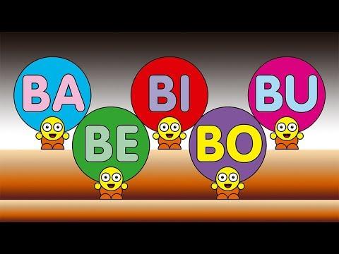 BA BE BI BO BU  - Crianças inteligentes - A E I O U