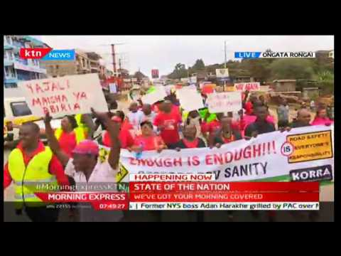 Happening Now: Walk for Road Safety in Rongai after four killed in Langata