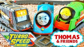Video Thomas & Friends Trackmaster Turbo Boost Engines Boosted Percy Diesel vs Nia Yong Boa BWBA MP3, 3GP, MP4, WEBM, AVI, FLV Januari 2019