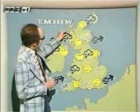 BBC Michael Fish Ian McCaskill bloopers in happier days 70s