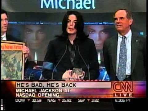 nasdaq - On Aug 30th 2001 Michael Jackson opened the NASDAQ trading by