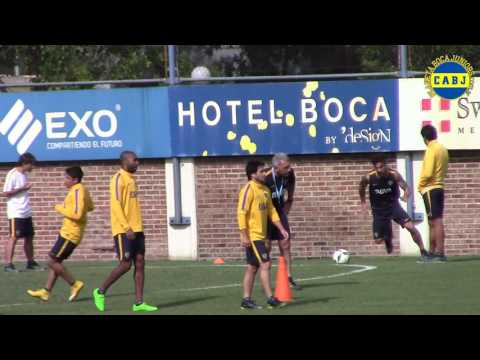 Video Osvaldo entrenando con Boca Juniors