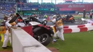 ROC 2017. Miami Marlins Park. Pascal Wehrlein Huge Crash Flip