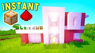 MINECRAFT: Instant Command Block Houses