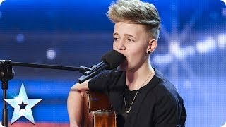 14 Year old songwriter Bailey McConnell impresses with his own song | Britain's Got Talent 2014 - YouTube