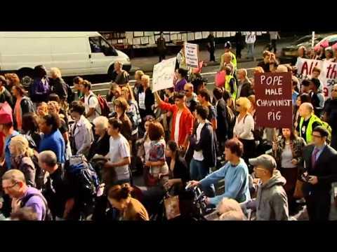 Papstproteste London 2010