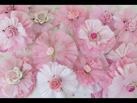 Retro Craft: Glittery Crepe Paper Flowers