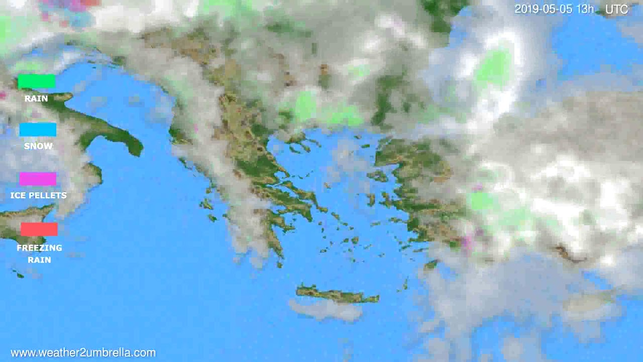 Precipitation forecast Greece // modelrun: 12h UTC 2019-05-03