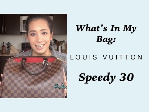 What's In My Bag:  Louis Vuitton Speedy 30 | October 2014