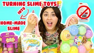 TURNING STORE SLIMES INTO HOME MADE SLIMES | micheals store bought into home slime | Slimeatory #216