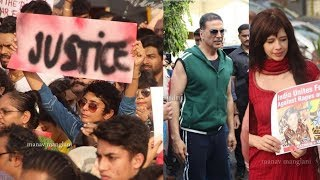 Video Bollywood Celebs Akshay Kumar,Twinkle Khanna,kiran rao protest in rally for Justice to ASIFA MP3, 3GP, MP4, WEBM, AVI, FLV April 2018