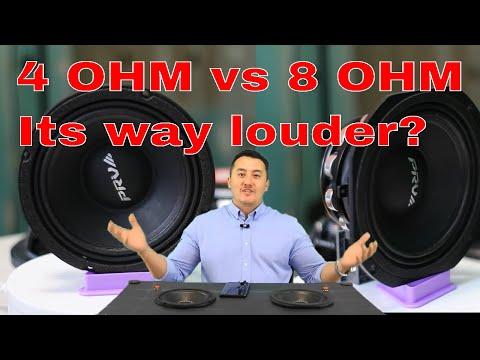 Myth busted, real test 4 Ohm vs 8 Ohm speaker? Car audio system PRV AUDIO 6MR500-NDY
