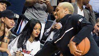 Awkward Chris Brown and Rihanna Reunion - YouTube