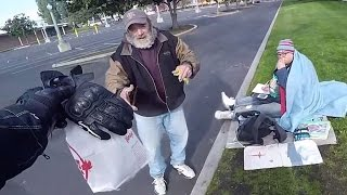 Random Acts of Kindness - Bikers Helping the Homeless, Elderly and Other Bikers 2017 [Ep.#21]