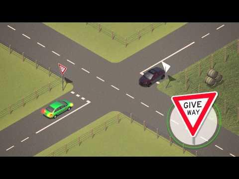 Giving way at intersections - Dari