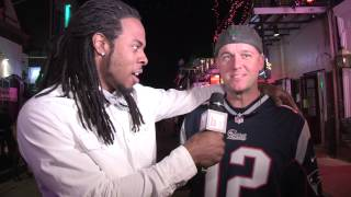 NFL STAR RICHARD SHERMAN 'PUNKS' FANS ON BOURBON STREET