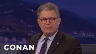 Long before either of them were in public office, Sen. Al Franken sat behind Trump at a screening and loudly critiqued his comb over.More CONAN @ http://teamcoco.com/videoTeam Coco is the official YouTube channel of late night host Conan O'Brien, CONAN on TBS & TeamCoco.com. Subscribe now to be updated on the latest videos: http://bit.ly/W5wt5DFor Full Episodes of CONAN on TBS, visit http://teamcoco.com/videoGet Social With Team Coco:On Facebook: https://www.facebook.com/TeamCocoOn Google+: https://plus.google.com/+TeamCoco/On Twitter: http://twitter.com/TeamCocoOn Tumblr: http://teamcoco.tumblr.comOn YouTube: http://youtube.com/teamcocoFollow Conan O'Brien on Twitter: http://twitter.com/ConanOBrien