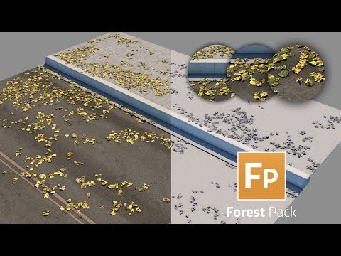 How to paint the leaves on to the selected surface with Forest Pack