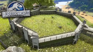 RAPTOR PADDOCK COMPOUND! - Jurassic World - Ark Survival Evolved MOD | Ep 2