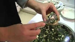 Hosting A Dinner Party (Part 1) - Stuffed Mushroom Appetizer
