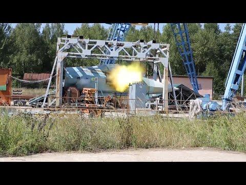 Испытания скорострельной пушки истребителя Т-50 попали на видео