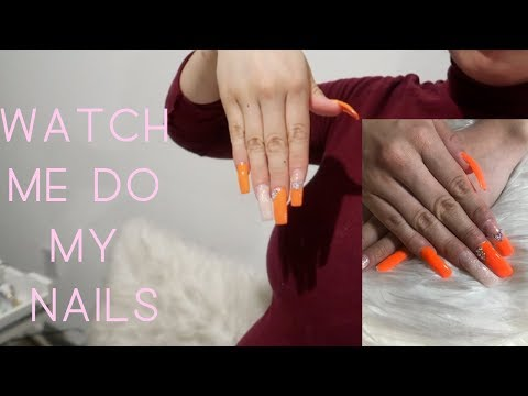 DOING MY OWN ACRYLIC NAILS AT HOME