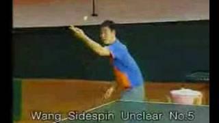 Wang Liqin's подачи