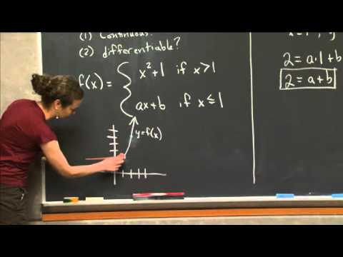 Smoothing a Piece-wise Function | MIT 18.01SC Single Variable Calculus, Fall 2010