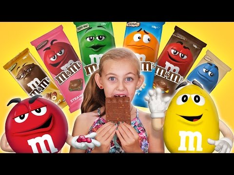 WORLD EXCLUSIVE! M&Ms Chocolate Bars *BRAND NEW*