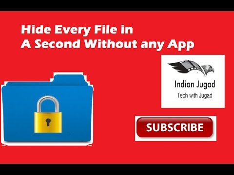 How to Hide Video ,mp3, photos or any file folder without any app in Android