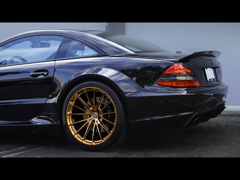 Mercedes SL65 AMG Black Series R230 and rims HRE