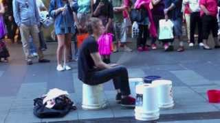 Incredibly Fast Street Drummer