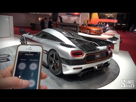 App - Yes, you can control the wing angle and suspension system on the Koenigsegg One:1 from an iPhone app - you'd expect no less for $2850000 plus taxes! The av...