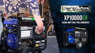 10. DuroMax XP10000EH 10000-Watt Electric Start Dual Fuel Hybrid Portable Generator