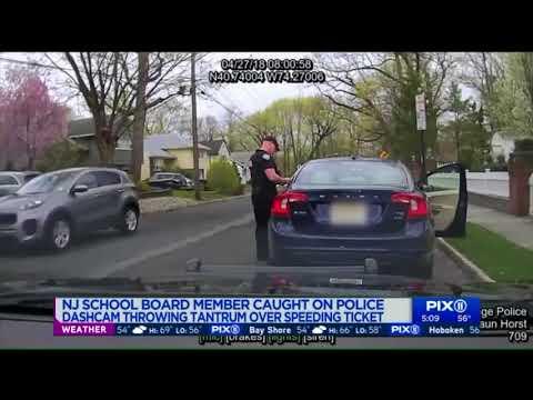 NJ school board member caught throwing tantrum during traffic stop
