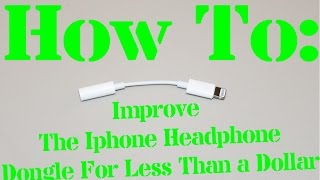 In less then a minute and for less then $1 you can make the Iphone 7 Headphone dongle stronger.Buy the heat shrink tubing here:https://www.amazon.com/gp/product/B00843KWZS/ref=oh_aui_detailpage_o01_s00?ie=UTF8&psc=1