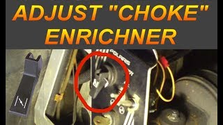6. How To Adjust Snowmobile Choke/Enricher for Mikuni