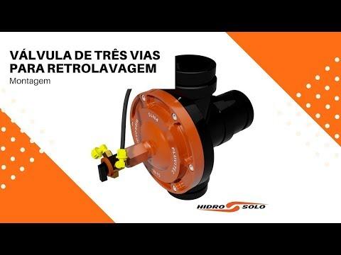 Hidro Solo - Montagem da Válvula de Três Vias para Retrolavagem