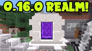 MCPE REALMS SMP PRE 0.16.0 REALM UPDATE // 0.16.0 UPDATE REALM ADDONS? Minecraft PE (Pocket Edition)