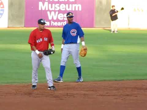 Starlin - From http://www.projectprospect.com ...Jose Iglesias and Starlin Castro take ground balls before the Rising Stars Game.