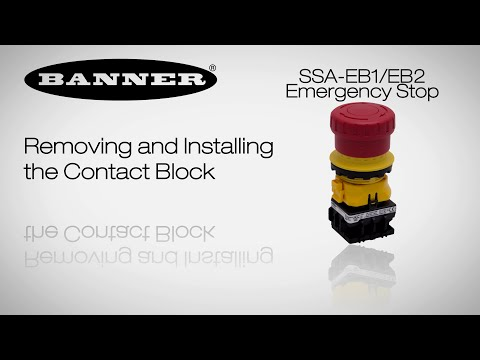 E-Stop Removing and Installing Contact Block