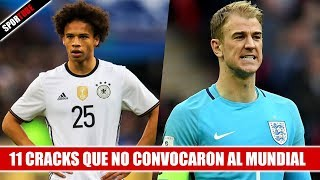 Video 11 Cracks que NO CONVOCARON al Mundial de Rusia MP3, 3GP, MP4, WEBM, AVI, FLV Desember 2018